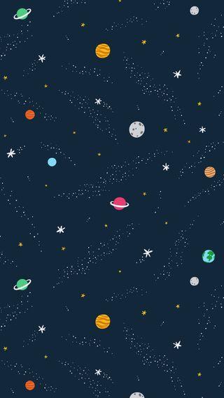 Обои на телефон планеты, планета, космос, звезды