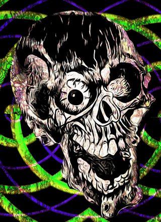 Обои на телефон смех, череп, фиолетовые, счастливые, зеленые, арт, art, another happy skull