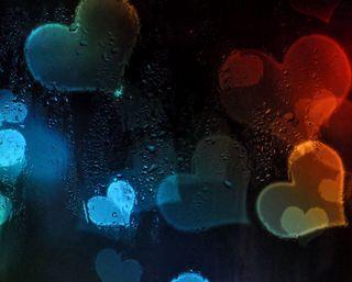 Обои на телефон мокрые, темные, стекло, сердце, окно, любовь, дождь, валентинка, боке, абстрактные, love