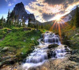 Обои на телефон река, солнце, природа, пейзаж, лето, hd