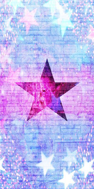 Обои на телефон сверкающие, фиолетовые, стена, розовые, звезда, star wall