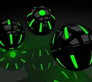 Обои на телефон шары, упавший, падение, зеленые, gruen, green balls 2edition, gree, big, baelle, 2edition