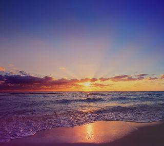 Обои на телефон айфон 6, свет, море, закат, желтые, айфон, z3, s6, s5, note4, iphone 6 sunset