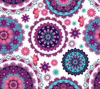 Обои на телефон шаблон, цветы, абстрактные