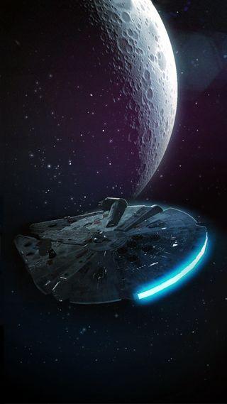 Обои на телефон сокол, звездные войны, millenium, faucon