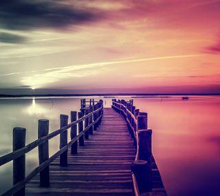 Обои на телефон озеро, дорога, приятные, природа, hd