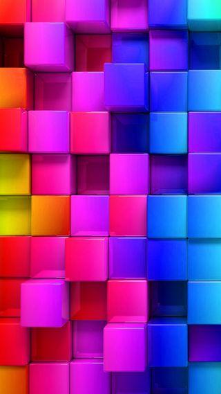 Обои на телефон кубы, красочные