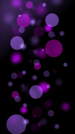 Обои на телефон круги, фиолетовые, абстрактные