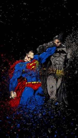 Обои на телефон герои, супермен, бэтмен, superman x batman