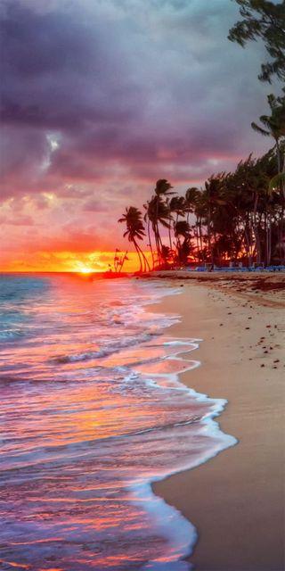 Обои на телефон фото, пляж, природа, пейзаж, закат, hd, atardecer en la playa