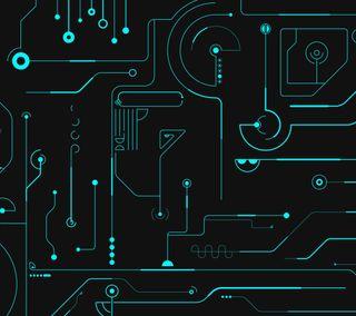 Обои на телефон трон, микросхема, синие, доска, the board, logic