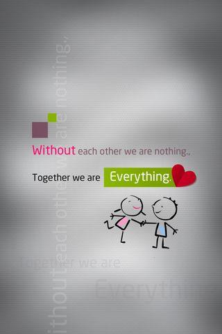 Обои на телефон ты, скучать, сердце, правда, поцелуй, любовь, жизнь, время, вместе, together everything, love