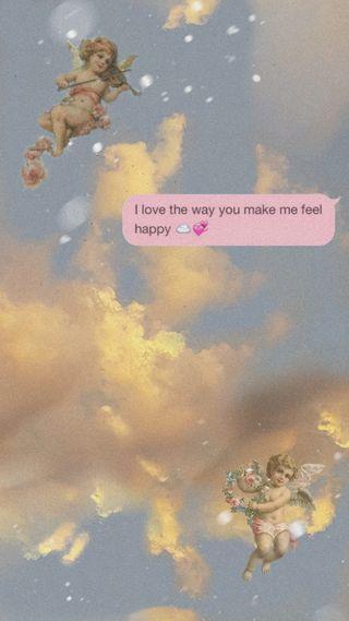 Обои на телефон сообщение, эстетические, текст, прекрасные, облака, небо, любовь, звезды, ангел, love, dreamer, air