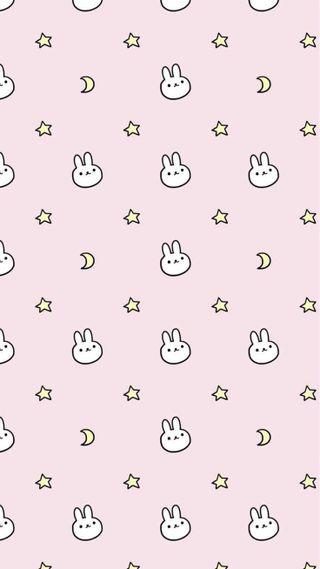 Обои на телефон каваи, шаблон, милые, кролик