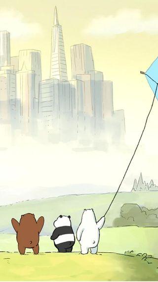 Обои на телефон сцена, сеть, конец, мультфильмы, милые, медведи, end scene