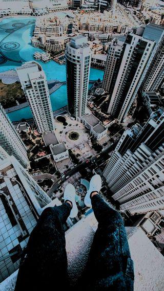 Обои на телефон высокий, счастливые, погода, здания, жизнь, город, man, high on life, happy weather, fi, edited