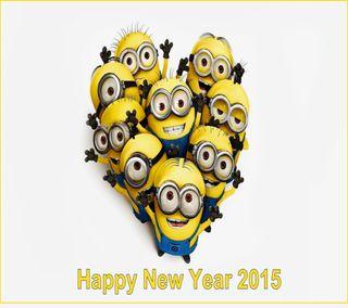 Обои на телефон фейерверк, счастливые, рождество, новый, миньоны, золотые, год, happy, 2015