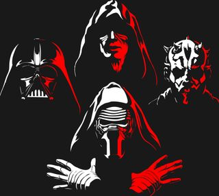 Обои на телефон вейдер, темные, сила, звезда, войны, бок, star wars, ren, palpatine, maul, dark side villains