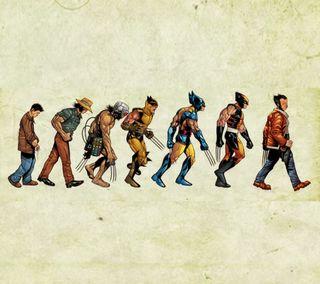 Обои на телефон эволюция, росомаха, wolverine evolution, fscx