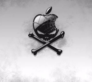 Обои на телефон икона, эпл, череп, символ, логотипы, айфон, iphone, hd, apple
