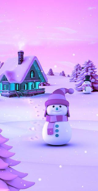 Обои на телефон форза, рождество, розовые, горизонт, pink navidad