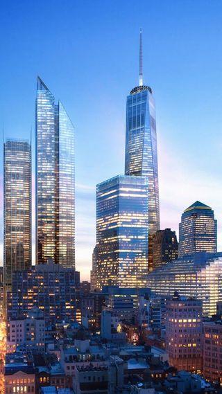 Обои на телефон новый, йорк, город, горизонт, америка, skyline, new york skyline, hd