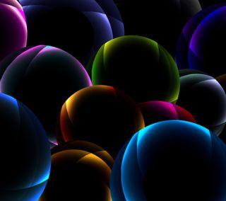 Обои на телефон электрические, пузыри, красочные, дизайн, абстрактные