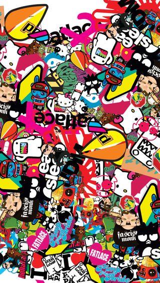Обои на телефон смешанный, наклейки, забавные, stickerbomb, hd, dope
