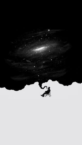 Обои на телефон галактика, черные, белые, абстрактные, galaxy