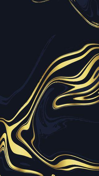 Обои на телефон элегантные, темные, синие, полосы, мрамор, крутые, золотые, дизайн, грани