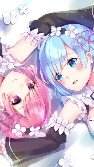 Обои на телефон аниме, re zero