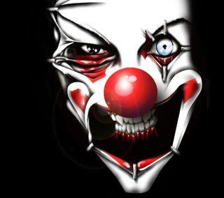 Обои на телефон плохой, клоун, bad clown