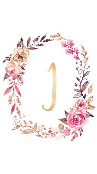 Обои на телефон девчачие, цветочные, розовые, золотые, буквы, monogram i, monogram