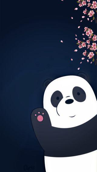 Обои на телефон медведи, панда, медведь, bare bears panda, bare
