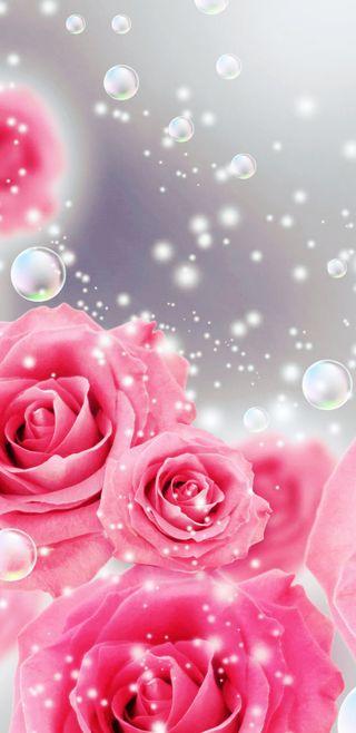 Обои на телефон девчачие, симпатичные, розы, розовые, пузыри, прекрасные, bubblesnroses