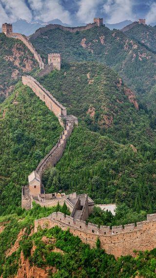 Обои на телефон китай, стена, путь, китайские, горы, великий, азия, азиатские, great wall