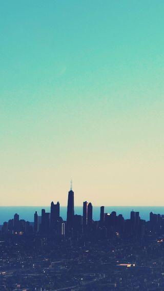 Обои на телефон чикаго, сша, синие, город, usa