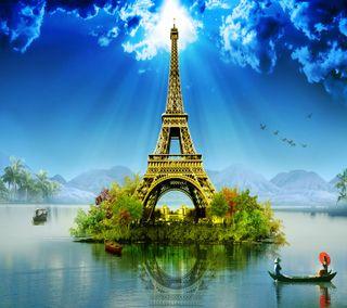 Обои на телефон креативные, эйфелева башня, приятные, взгляд, creative eiffel