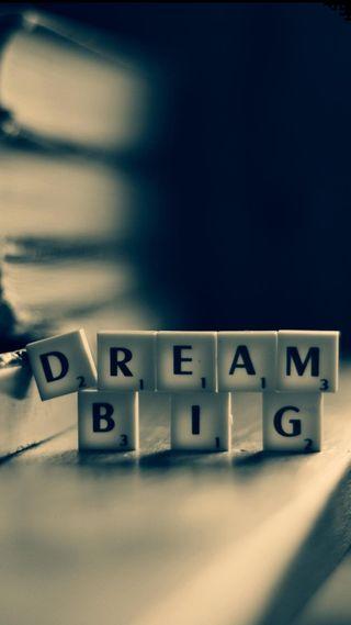 Обои на телефон плитка, мечта, scrabble, dream big