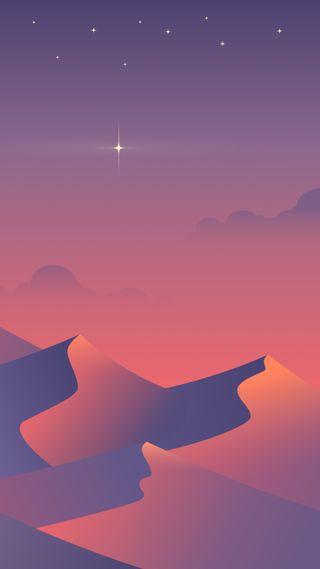 Обои на телефон сумерки, чистые, симпатичные, пустыня, пейзаж, красочные, классные, артистические, slleek, desrt, desert dusk, 929