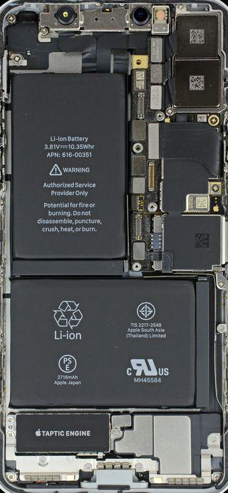 Обои на телефон айфон, iphone x, insides iphone x, ifixit