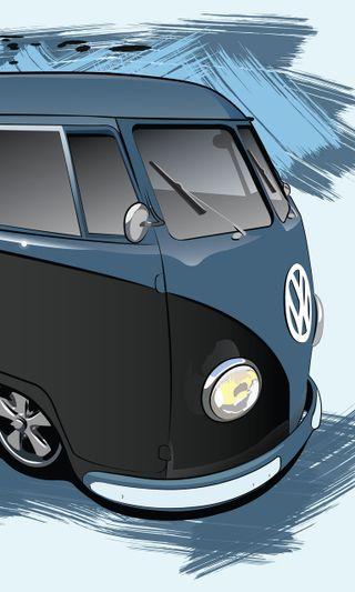 Обои на телефон фольксваген, автобус, vw, volkswagen