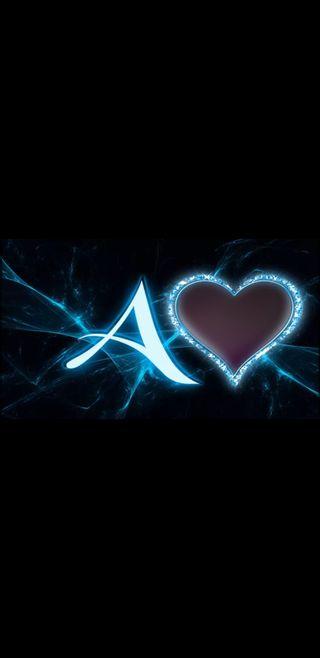 Обои на телефон буквы, черные, синие, сердце, молния, lightning letter