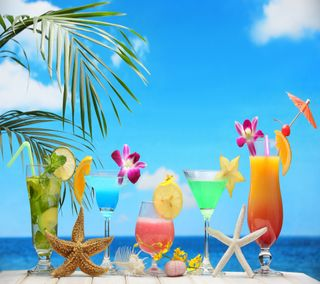 Обои на телефон лето, коктейли, summer  cocktails