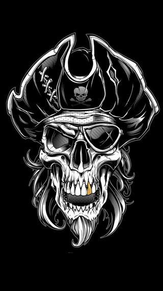 Обои на телефон пираты, череп