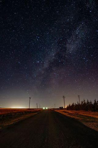 Обои на телефон фотографии, туманность, пейзаж, ночь, небо, млечный, звезды, звездное, дорога, stars road, nebulae
