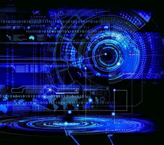 Обои на телефон технология, технологии, темные, современные, синие, dark blue hud