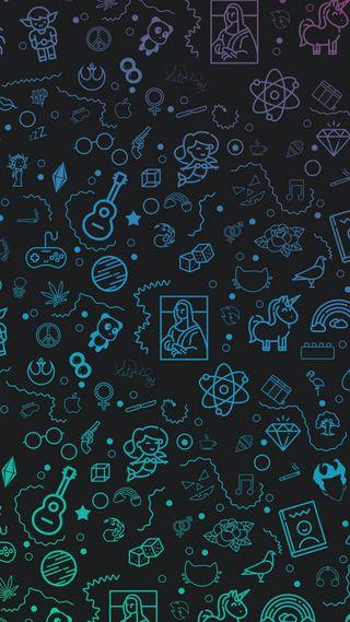 Обои на телефон фон, фиолетовые, синие, розовые, мультики, зеленые, whatsapp
