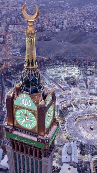Обои на телефон часы, мекка, ислам, башня, saudiarabia, pilgrim, holycity