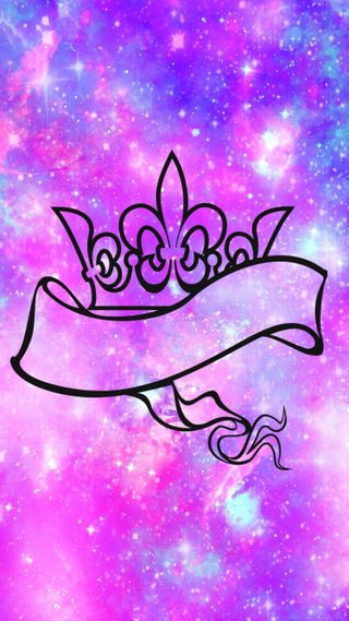 Обои на телефон принцесса, сверкающие, навсегда, милые, девчачие, галактика, princess forever, galaxy